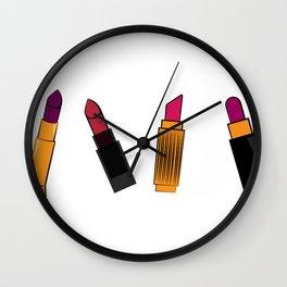 four lipstick Wall Clock