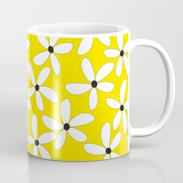 Happy flowers Yellow Coffee Mug