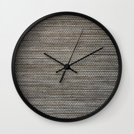 High resolution picture of gray textile texture. Wall Clock