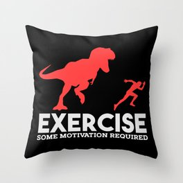Exercise Some Motivation Required Funny Gym Illustration Throw Pillow