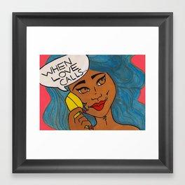 When Love Calls... Framed Art Print