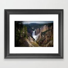 Lower Falls on the Yellowstone Framed Art Print