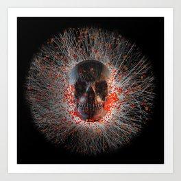 Skull Cinders Art Print