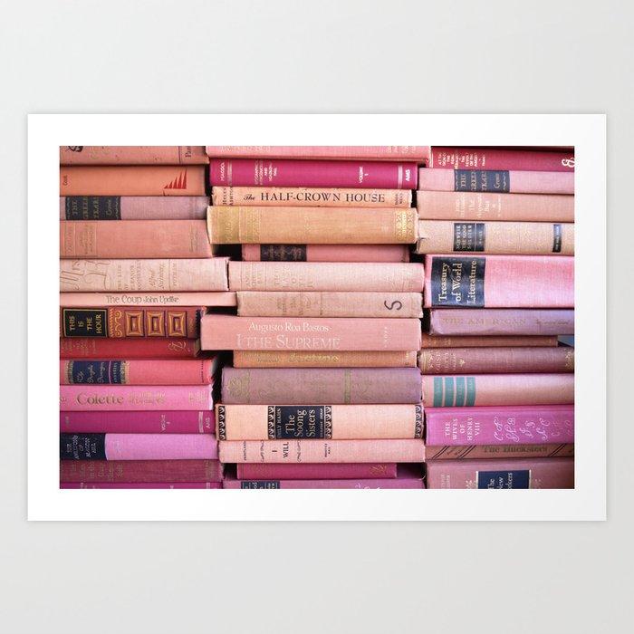 Vintage Pink Stacks Kunstdrucke