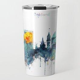 Oakland California Blue  skyline print Travel Mug