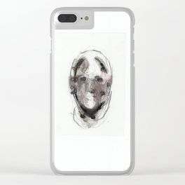 Woman With Head Wound Clear iPhone Case