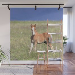 Watercolor Horse 31, Icelandic Pony, Höfn, Iceland, Attention! Wall Mural