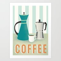 coffee Art Prints featuring Coffee by Jenny Tiffany