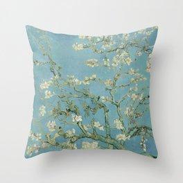 Vincent van Gogh - Almond Blossoms 1890 Throw Pillow