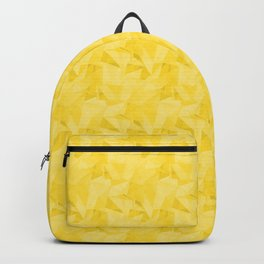 Pantone Vibrant Yellow 13-0858 Abstract Geometrical Triangle Patterns 2 Backpack