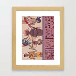 Live at the Manticore Framed Art Print