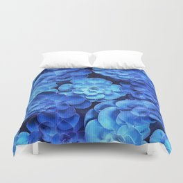 Succulent Plants In Blue Tones #decor #society6 #homedecor Duvet Cover