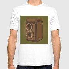 Rollei MEDIUM Mens Fitted Tee White
