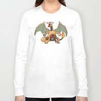 charizard Long Sleeve T-shirts featuring Charizard Anatomy by Logan Niblock
