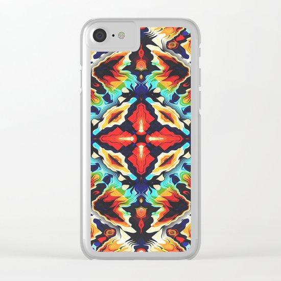 Ornate Geometric Colors Clear iPhone Case