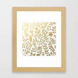 Botanica - gold Framed Art Print