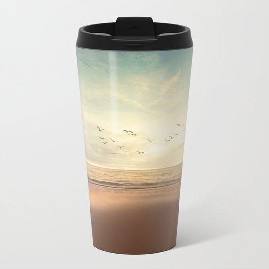 Summer Seagulls Metal Travel Mug