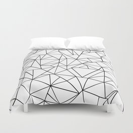 Abstract Outline Black on White Duvet Cover