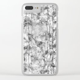 Gray Smiles Clear iPhone Case