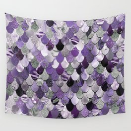 Mermaid Purple and Silver Wall Tapestry