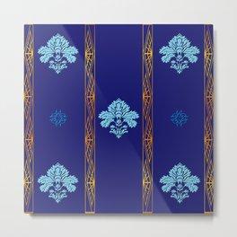 Chic Classique Art Deco Mediterranean blue Metal Print