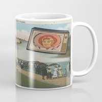 postcard Mugs featuring Postcard #19 by Jon Duci