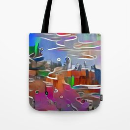 Colorful Cliff Tote Bag