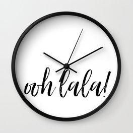 ooh lala! Wall Clock
