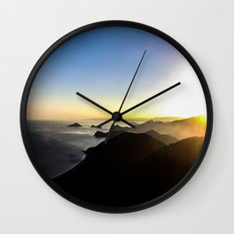 View of sunset. Wall Clock