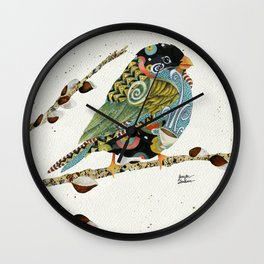 Cafe Swirly Bird 4 Wall Clock