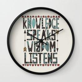 Knowledge Speaks Wall Clock