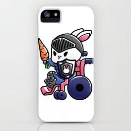 Hare wheelchair armor boy child gift iPhone Case
