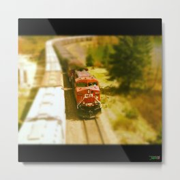 Train threw the Rockeys Metal Print