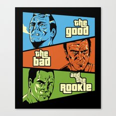 The Good, The Bad and the Rookie Canvas Print