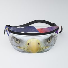 American Flag and Bald Eagle Fanny Pack