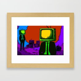 TV-Heads Framed Art Print