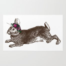 The Rabbit and Roses Rug