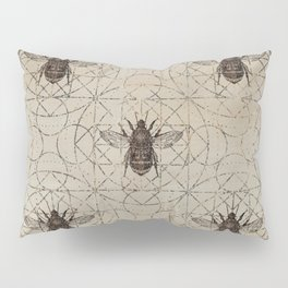 Bumble Bee  on sacred geometry pattern Pillow Sham