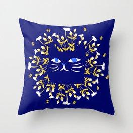 StrangerCat Throw Pillow