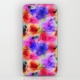 Colorful abstract modern roses flowers pattern iPhone Skin