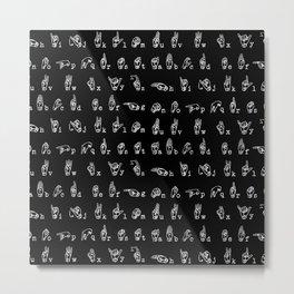 ASL Alphabet Metal Print