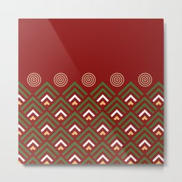 Christmas decor pattern red and green Metal Print
