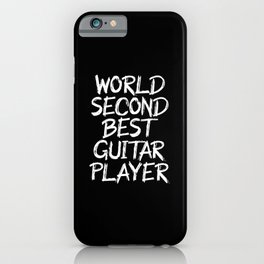 world second best guitarist iPhone Case