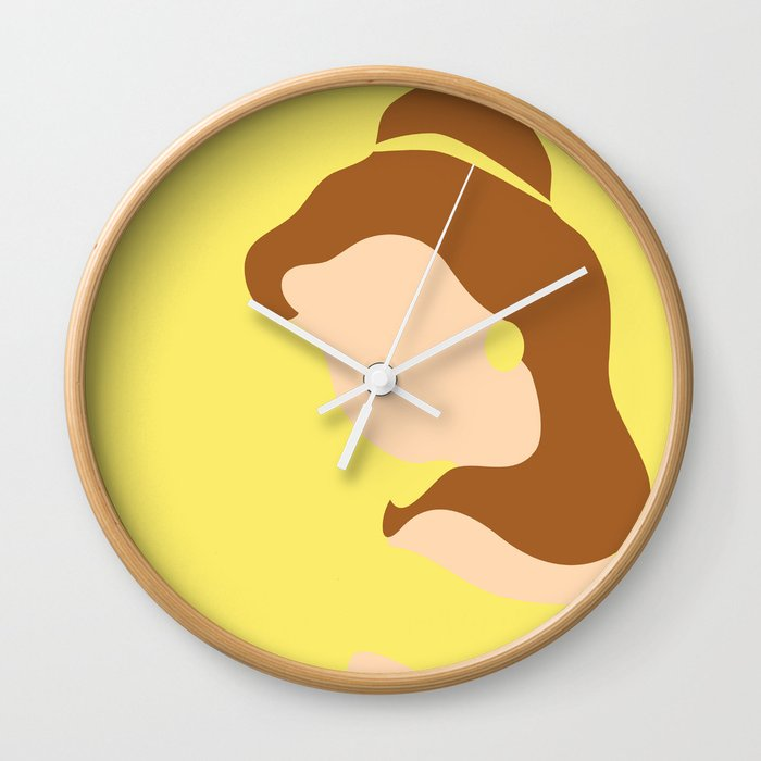 Belle - Beauty - Beauty and the Beast Wall Clock by ese51 | Society6