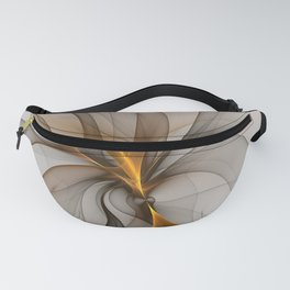Elegant Chaos, Abstract Fractal Art Fanny Pack