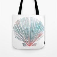shell Tote Bags featuring Shell by Adara Sánchez Anguiano