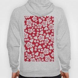 Hawaiian Hibiscus Flower pattern red Hoody