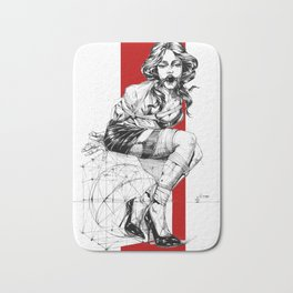 Art Nouveau Lady. Bath Mat