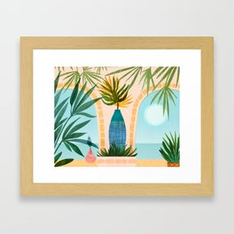 Welcome To The Hotel California / Illustrated Landscape Framed Art Print