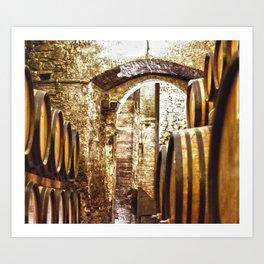 Montepulciano Wine Art Print